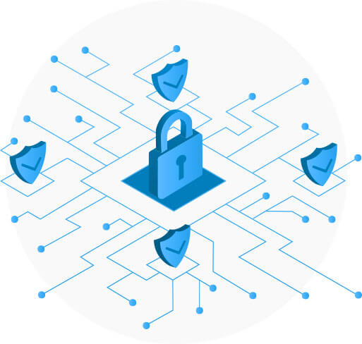 Cyber Security Padlock Illustration